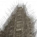 La struttura in bambù come in Asia