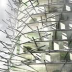 La struttura in bambù