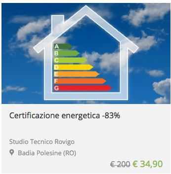 certificazione energetica low cost