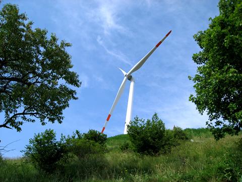 Impianto eolico di Badia Calavena - dal sito www.badiacalavena.eu